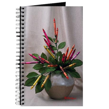 Crayon Bouquet Journal