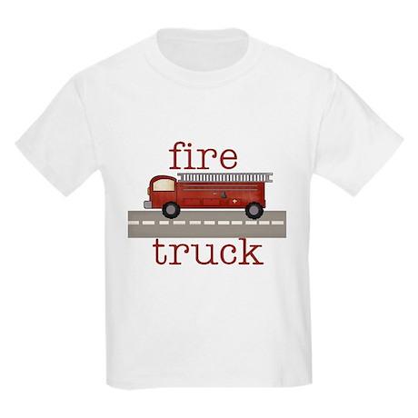 Fire Truck Kids T-Shirt