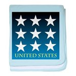 United States with 9 Stars baby blanket