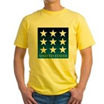 United States with 9 Stars Yellow T-Shirt