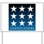 United States with 9 Stars Yard Sign
