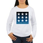 United States with 9 Stars Women's Long Sleeve T-S