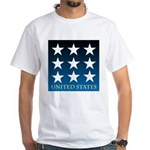 United States with 9 Stars White T-Shirt