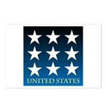 United States with 9 Stars Postcards (Package of 8