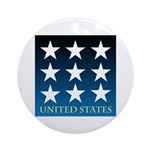 United States with 9 Stars Ornament (Round)