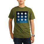 United States with 9 Stars Organic Men's T-Shirt (