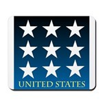 United States with 9 Stars Mousepad