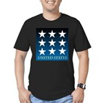 United States with 9 Stars Men's Fitted T-Shirt (d