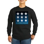 United States with 9 Stars Long Sleeve Dark T-Shir
