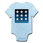 United States with 9 Stars Infant Bodysuit