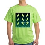 United States with 9 Stars Green T-Shirt