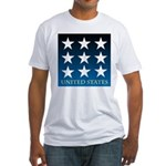 United States with 9 Stars Fitted T-Shirt