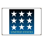United States with 9 Stars Banner