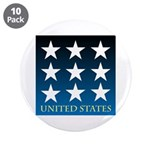 "United States with 9 Stars 3.5"" Button (10 pack)"