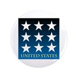 "United States with 9 Stars 3.5"" Button"