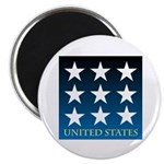 "United States with 9 Stars 2.25"" Magnet (100 pack)"