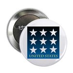 "United States with 9 Stars 2.25"" Button (100 pack)"