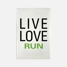 Live Love Run Rectangle Magnet