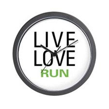 Live Love Run Wall Clock