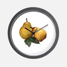 Cute Pear Wall Clock