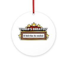 World's Greatest Phlebotomist Ornament (Round)