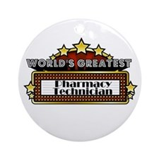 World's Greatest Pharmacy Tec Ornament (Round)
