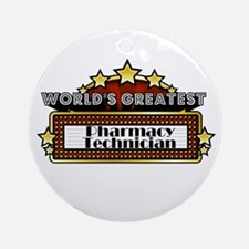 World's Greatest Pharmacy Tec Ornament (Round)