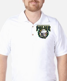 Motorcycle Police Officer Golf Shirt