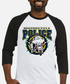 Motorcycle Police Officer Baseball Jersey