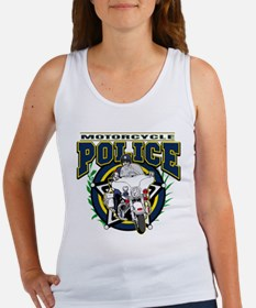 Motorcycle Police Officer Women's Tank Top