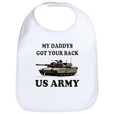 My Daddys Got Your Back Army Tank Bib