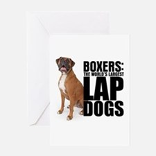 Boxer Lap Dog Greeting Card