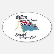 Fijian by birth Decal