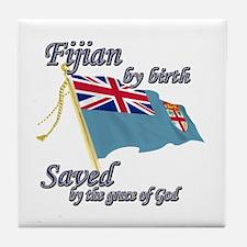 Fijian by birth Tile Coaster