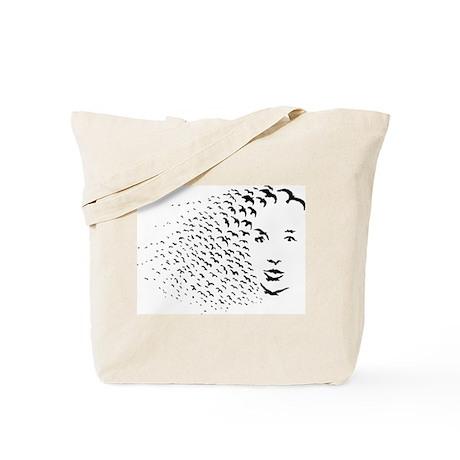 Bird Face Tote Bag