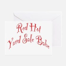 Red Hot Yard Sale Babe Greeting Card