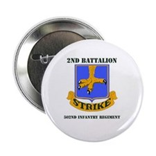 """DUI - 2nd Bn - 502nd Infantry Regt with Text 2.25"""""""