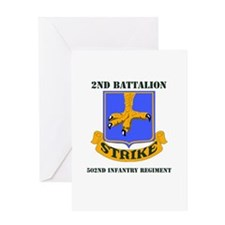 DUI - 2nd Bn - 502nd Infantry Regt with Text Greet
