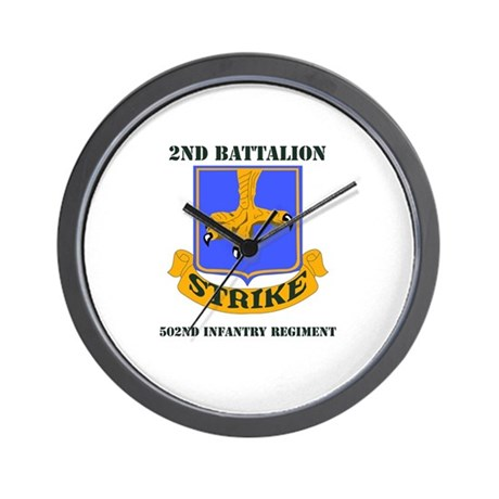 DUI - 2nd Bn - 502nd Infantry Regt with Text Wall