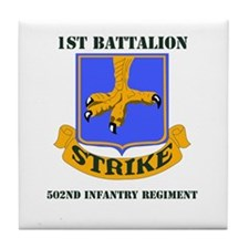 DUI - 1st Bn - 502nd Infantry Regt with Text Tile