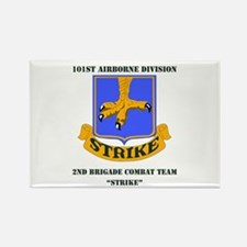 DUI - 2nd BCT - Strike with Text Rectangle Magnet