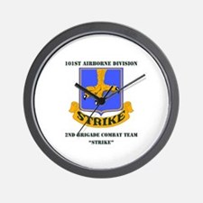 DUI - 2nd BCT - Strike with Text Wall Clock