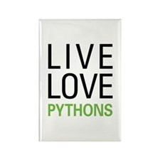 Live Love Pythons Rectangle Magnet