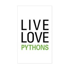 Live Love Pythons Decal