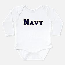 Cool Navy veteran Long Sleeve Infant Bodysuit