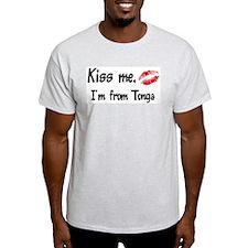Kiss Me: Tonga Ash Grey T-Shirt