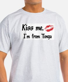 Kiss Me: Tonga Ash Grey T-Shirt