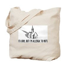 Church and Nuts Tote Bag