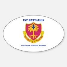 DUI - 1st Bn - 320th FA Regt with Text Decal