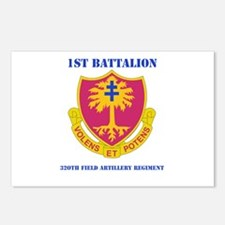 DUI - 1st Bn - 320th FA Regt with Text Postcards (